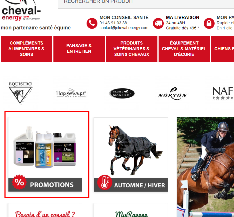 bloc promotion cheval energy